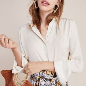 Anthropologie Steinbeck Tunic in Ivory